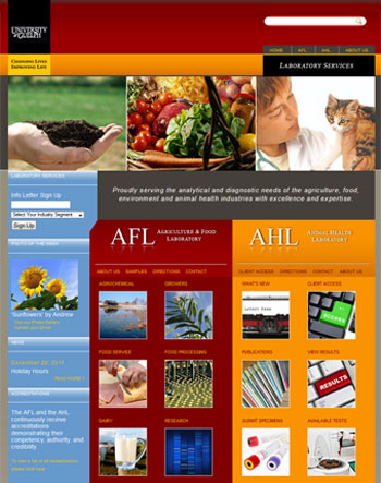 AHL and AFL website - Lab Services University of Guelph